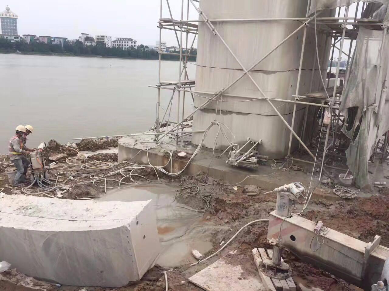 西安基坑支撑梁绳锯切割拆除无损性拆除方案